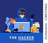 flat design concept hacker... | Shutterstock .eps vector #1188155602