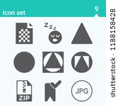 contains such icons as bookmark ...   Shutterstock .eps vector #1188158428