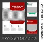 vector background brochure... | Shutterstock .eps vector #1188161065