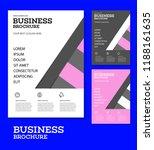 vector background brochure... | Shutterstock .eps vector #1188161635