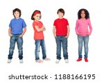 many children isolated on a... | Shutterstock . vector #1188166195