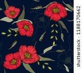 botanical motifs. isolated... | Shutterstock .eps vector #1188170662