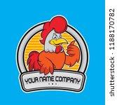 design chicken logo delicious ... | Shutterstock .eps vector #1188170782