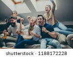 group of friends watching sport ... | Shutterstock . vector #1188172228