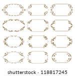 set of ornate floral vector... | Shutterstock .eps vector #118817245