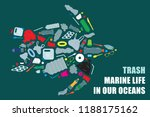 environmental banner plastic... | Shutterstock .eps vector #1188175162