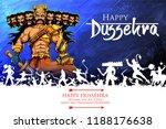 illustration of ravana with ten ... | Shutterstock .eps vector #1188176638