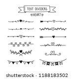 hand draw text divider set.... | Shutterstock .eps vector #1188183502