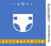 nappy icon symbol | Shutterstock .eps vector #1188190078