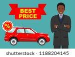 car showroom. big sale. smiling ... | Shutterstock .eps vector #1188204145