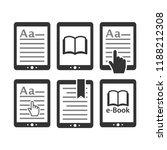 ebook tablet e reader device... | Shutterstock .eps vector #1188212308