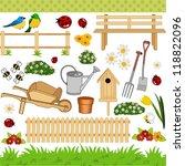 garden digital collage | Shutterstock .eps vector #118822096
