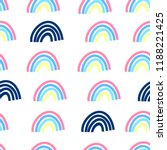 hand drawing rainbow pattern... | Shutterstock .eps vector #1188221425