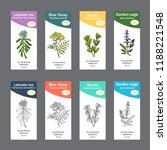 set of essential oil labels.... | Shutterstock .eps vector #1188221548