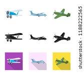 vector design of plane and... | Shutterstock .eps vector #1188222565