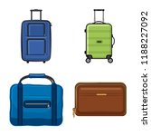 isolated object of suitcase and ... | Shutterstock .eps vector #1188227092