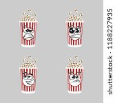 set of popcorn expression is... | Shutterstock .eps vector #1188227935