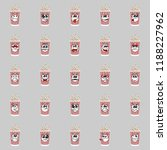 set of popcorn expression is... | Shutterstock .eps vector #1188227962