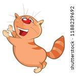 illustration of a cute cat....   Shutterstock . vector #1188239692