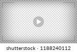 play video sign vector on... | Shutterstock .eps vector #1188240112