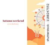 autumn banner with a ferris...   Shutterstock .eps vector #1188247552