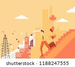 urban landscape with hurrying...   Shutterstock .eps vector #1188247555