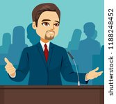 male politician speaking at...   Shutterstock .eps vector #1188248452
