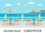cafe with tables under...   Shutterstock .eps vector #1188249328