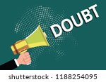 text sign showing doubt....   Shutterstock . vector #1188254095