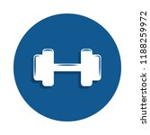 dumbbells icon in badge style.... | Shutterstock .eps vector #1188259972