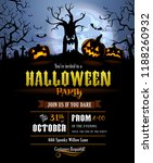 halloween invitation with... | Shutterstock .eps vector #1188260932