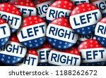 left and right wing vote badges ... | Shutterstock . vector #1188262672