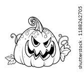 terrible lantern from pumpkin... | Shutterstock .eps vector #1188262705