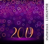 2019 year illustration with... | Shutterstock .eps vector #1188269908
