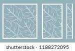 set template for cutting. palm... | Shutterstock .eps vector #1188272095
