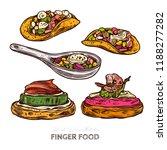 finger food  tortilla with...   Shutterstock .eps vector #1188277282