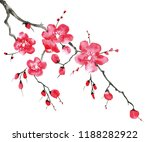 a branch of a blossoming tree.... | Shutterstock . vector #1188282922