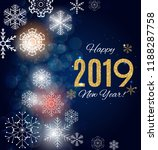 2019 happy new year and merry... | Shutterstock .eps vector #1188287758