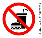 no food stop eat or drink... | Shutterstock .eps vector #1188291985