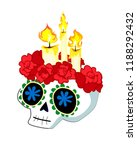 day of the dead postcard vector ... | Shutterstock .eps vector #1188292432