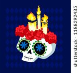day of the dead postcard vector ... | Shutterstock .eps vector #1188292435