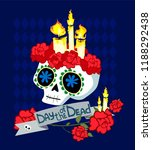 day of the dead postcard vector ... | Shutterstock .eps vector #1188292438