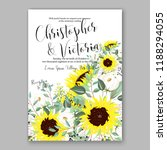 floral wedding invitation... | Shutterstock .eps vector #1188294055