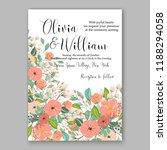 invitation vector peony flower ... | Shutterstock .eps vector #1188294058
