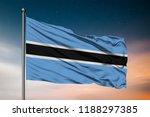 waving flag of the botswana.... | Shutterstock . vector #1188297385