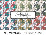 white lily seamless patterns... | Shutterstock .eps vector #1188314068