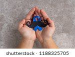 mustache pattern with blue... | Shutterstock . vector #1188325705