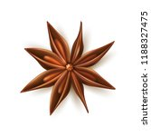 dried anise star. realistic... | Shutterstock .eps vector #1188327475