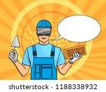 pop art background. a man is a... | Shutterstock .eps vector #1188338932