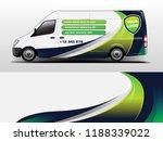 van wrap design for company ... | Shutterstock .eps vector #1188339022